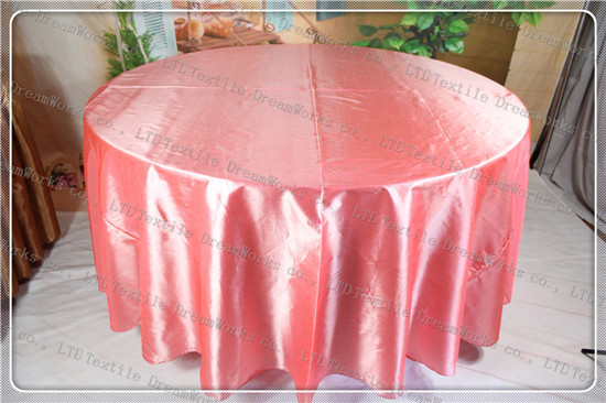 Coral Color Taffeta Tablecloth For Wedding Event&Party&Hotel&Banqet ...