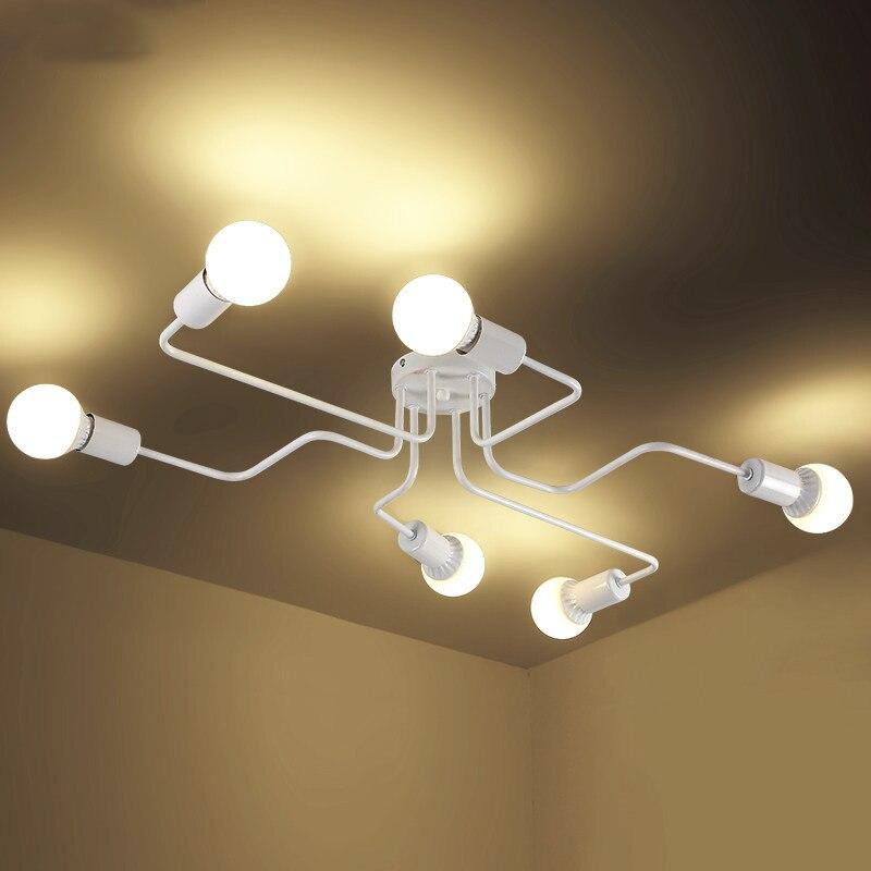 Moderne 4/6/8 Köpfe Mehrere Stange Dome Nacht Lampen Deckenleuchte Schmiedeeisen E27 Cafe Bar Wohnkultur Beleuchtung Halter leuchte