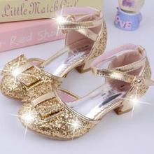3efcc0420 2019 جديد الترتر الفتيات الأميرة أحذية الاطفال الفتيات الصنادل الزفاف أحذية  الحفلات الكرة أحذية رقص سندريلا. 3 اللون