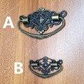 Estilo antiguo decorativo 48*28mm/73*45mm de aleación de zinc pomo tirador de cajas para cajas de madera