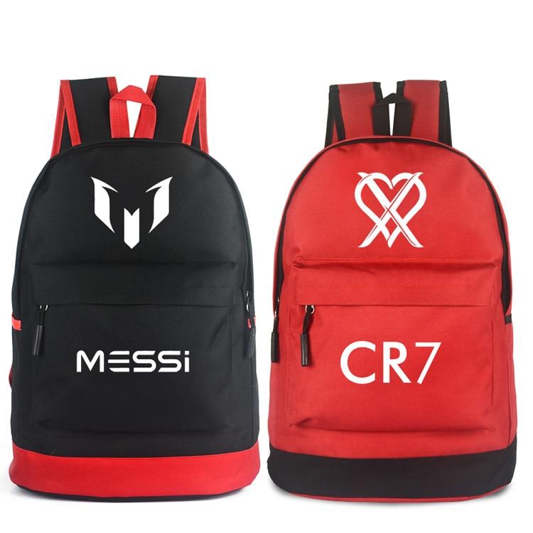 Teenagers School Bags Messi Cristiano Ronaldo Cr7 Teen Bookbag Backpack Men Back Pack Male Bag Kids Gift Bagpack Book Bag Boys