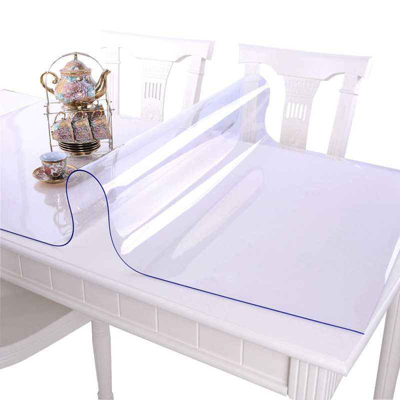 Soft glass PVC tablecloth waterproof Anti-hot table cloth transparent Table mats plastic Pads Crystal plate Coffee table cover