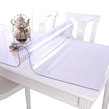 Zacht glas PVC tafelkleed waterdicht Anti-hot tafelkleed transparante placemats plastic Pads Kristal plaat salontafel cover