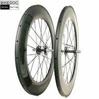 BIKEDOC Carbon Wheels Fixed Gear 700C Llantas Fixie Tubular Clincher 700C Wheelset Bicycle Wheels