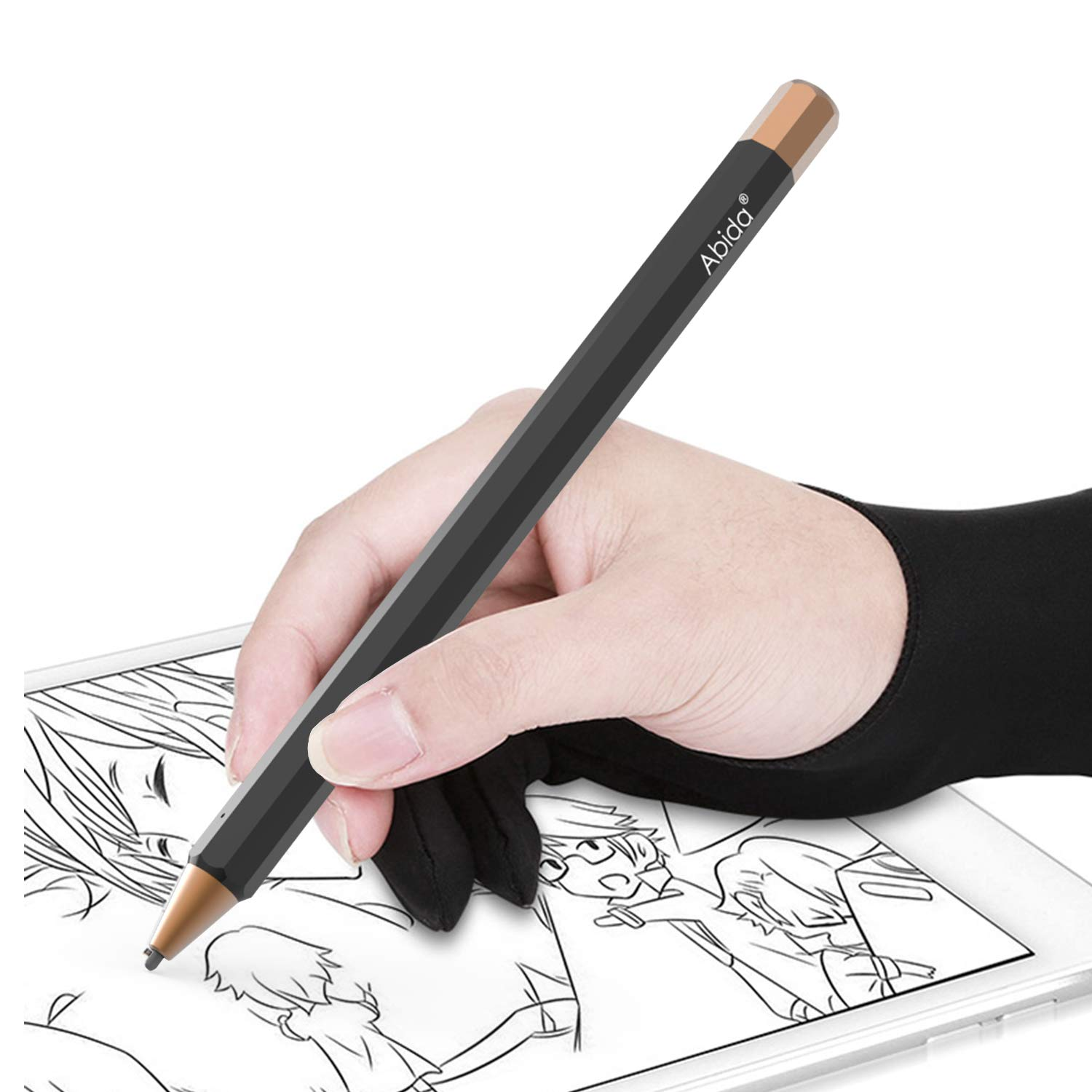 Us 4 99 1pcs drawing glove for graphic tablet art creation and ipad pro pencil black in art sets from office school supplies on aliexpress com