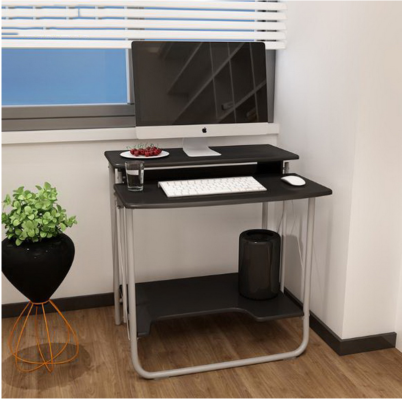 250636/New computer desk / desktop home desk / folding learning simple modern creative small table/Frosted panel free installation simple folding desk modern portable dinner table 60 40cm