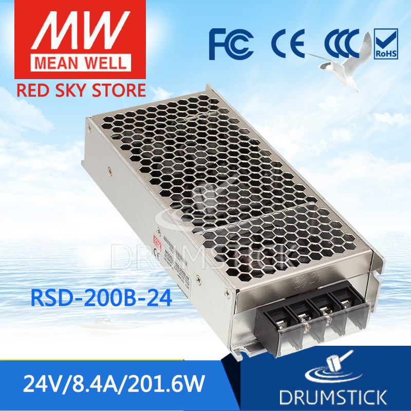 цена на Advantages MEAN WELL RSD-200B-24 24V 4.2A meanwell RSD-200 24V 201.6W Railway Single Output DC-DC Converter