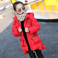Down Jacket For Girl Zipper Winter Coat Thicken Warm Cotton Padded Hooded Casual Women Girl 2016 High Quality Coats -30 Degrees