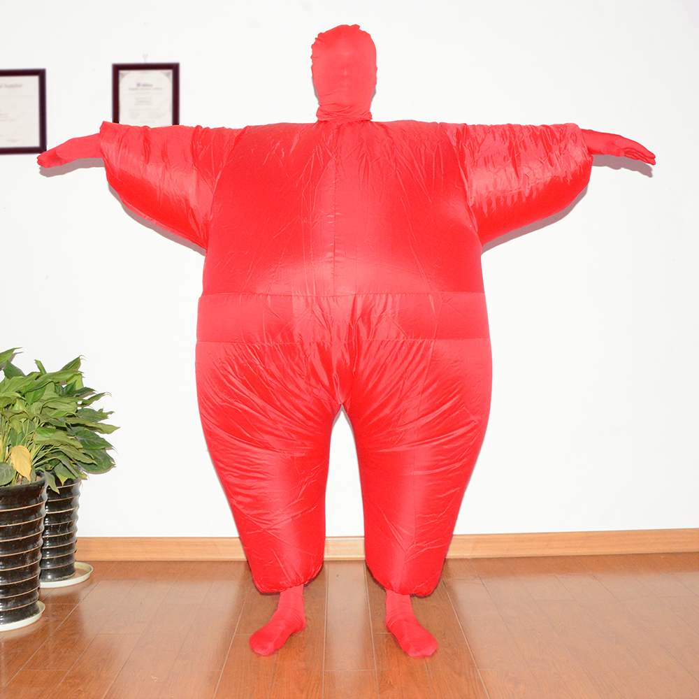 Funny Adult Size Inflatable Full Body Costume Suit Air Fan