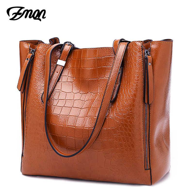 464ac23d4381 ZMQN роскошные сумки женские сумки дизайнерские PU кожаные сумки на плечо  сумки для женщин 2018 Большие