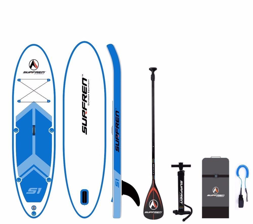 SURFREN All Round S1 Inflatable Surf Stand Up paddle board iSUP SurfingPaddleboard wakeboard bodyboard kayakboat