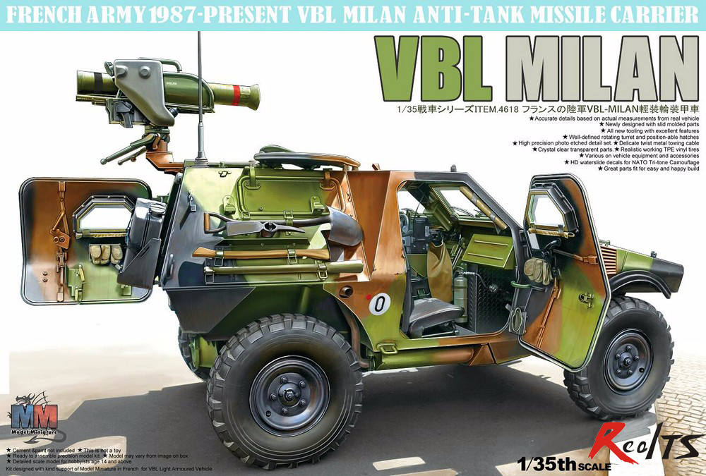 RealTS Tiger Model #4618 1/35 French VBL Milan Anti-Tank Missile Launcher