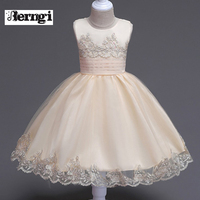 Children S Communion Costumes For Girl Party Dress Baby Birthday Outfits Lace Flower Girl Wedding Gown