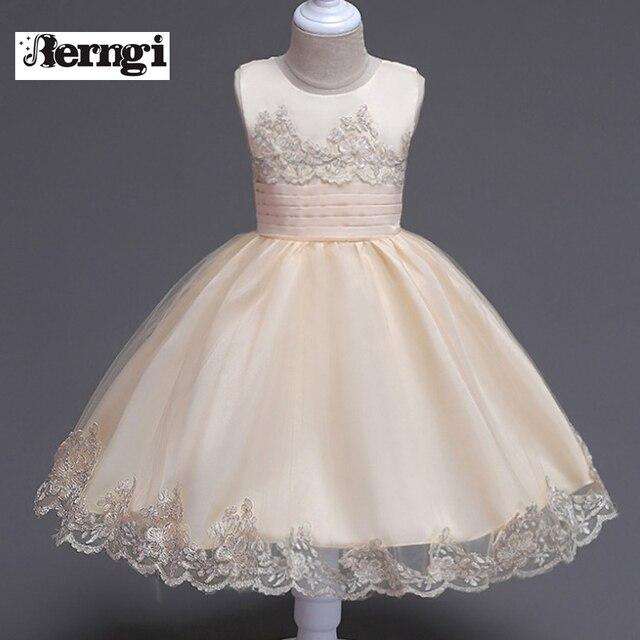 Kinder Kommunion Kostüme Für Mädchen Kleid Baby Geburtstag Outfits ...