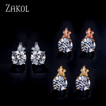 Clip Earrings Crystal Fashion Womens Jewelry  3