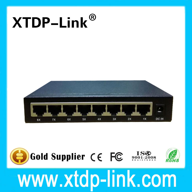 Steel Case Gigabit Ethernet Switch Desktop RJ45 RTL8370 chipset 10 100 1000mbps Lan Hub Network Switch