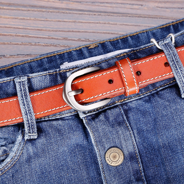 Cintos para as mulheres 2016 couro genuíno cinto para calças de brim de couro cheia de grãos de couro macio casuais boa qualidade 5 cores disponíveis