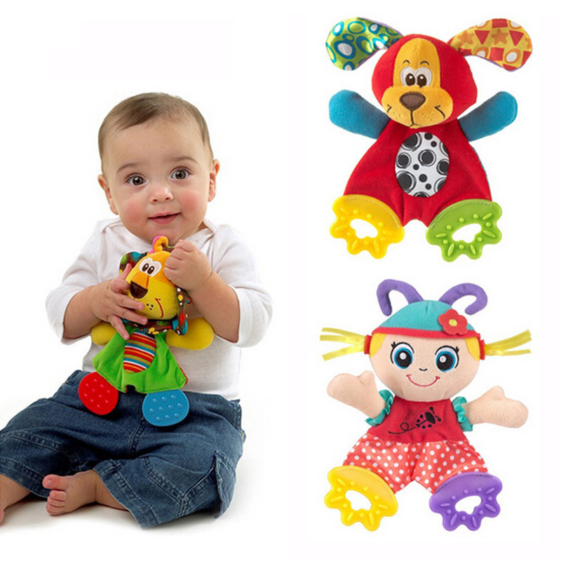 Baby Teether Baby Spedbarn Animal Pacify Dolls Håndkle Teething Tanntanningsleker Søt hund Myk Appease Plysj leketøy A012-15