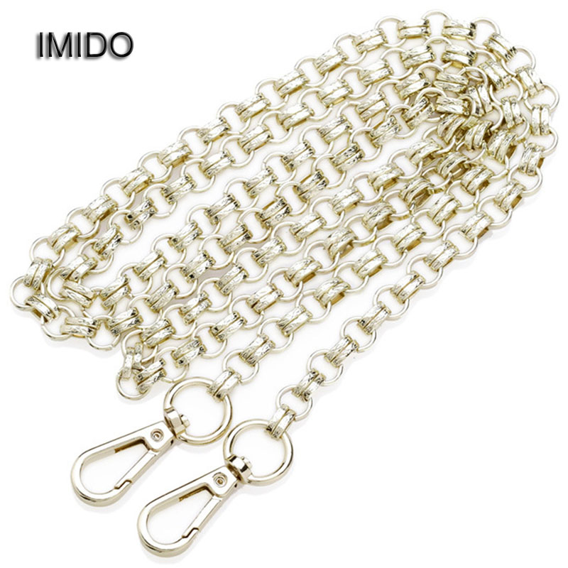 IMIDO 120cm Wholesale Accessories for Bags Gold Metal Chain Shoulder Strap Handbag Messenger Bag Small Handles Women Gift STP026