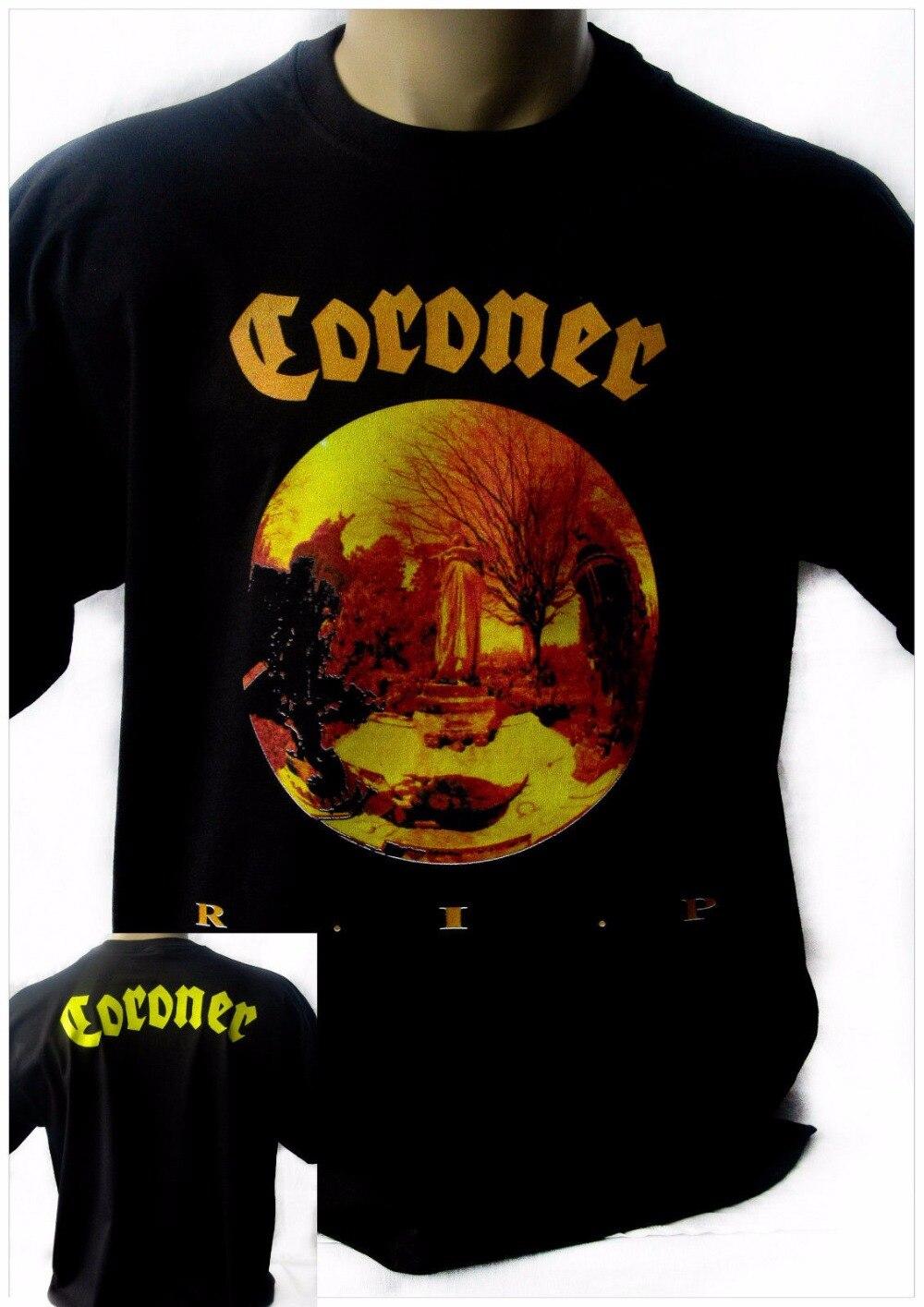 Сделать свой собственный Футболка короткий рукав подарок О-образным вырезом мужские коронер R. I. P. 1987 новые черные футболки рок футболка рок... ...