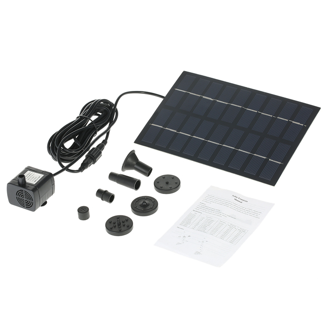 Solar-Powered Water Pump Silicon Mini Solar Water Pump Power Panel Kit Fountain Pool Garden Pond Submersible Watering