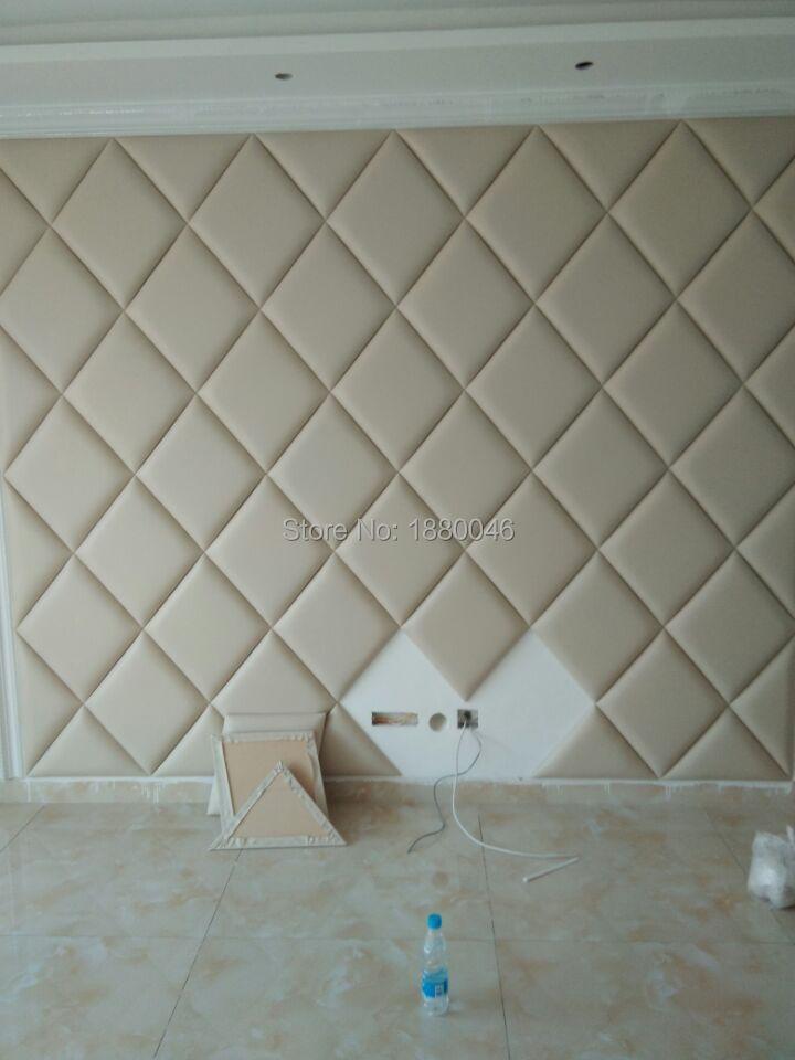Custom Made Europe Style 3d Diamond Leather Panel Wall