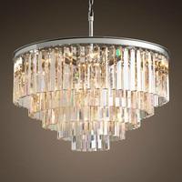 Retro Vintage Crystal Chandelier Light Fxiture Crystal Glass Prism Chandeliers Lighting for Home Hotel Living Room Decoration