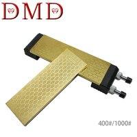 Retail 1set DMD Double Side Titanize Diamond Whetstone Ice Skate Kitchen Knife Sharpener Sharpening Stone Plus