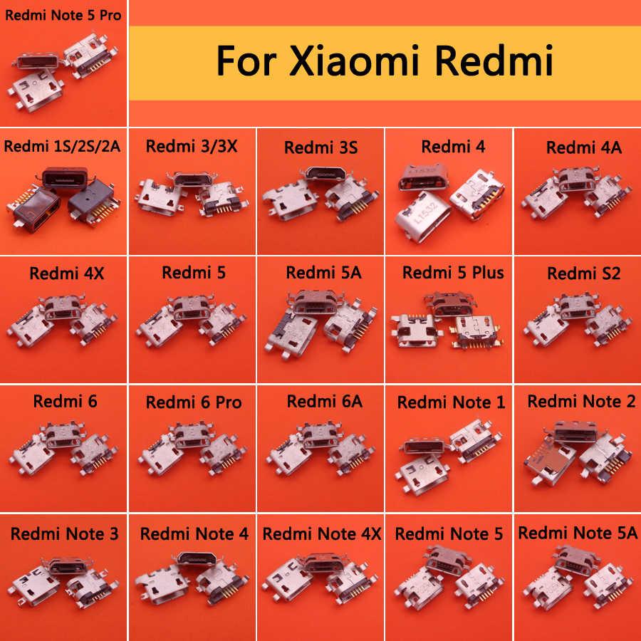 21 モデル Xiaomi Redmi 1 s 2 s 2A 3 3X3 s 4 4A 4 × 5 5A 5 プラス S2 6 プロ NOTE1 2 3 マイクロ USB ジャック充電ソケット電源コネクタ
