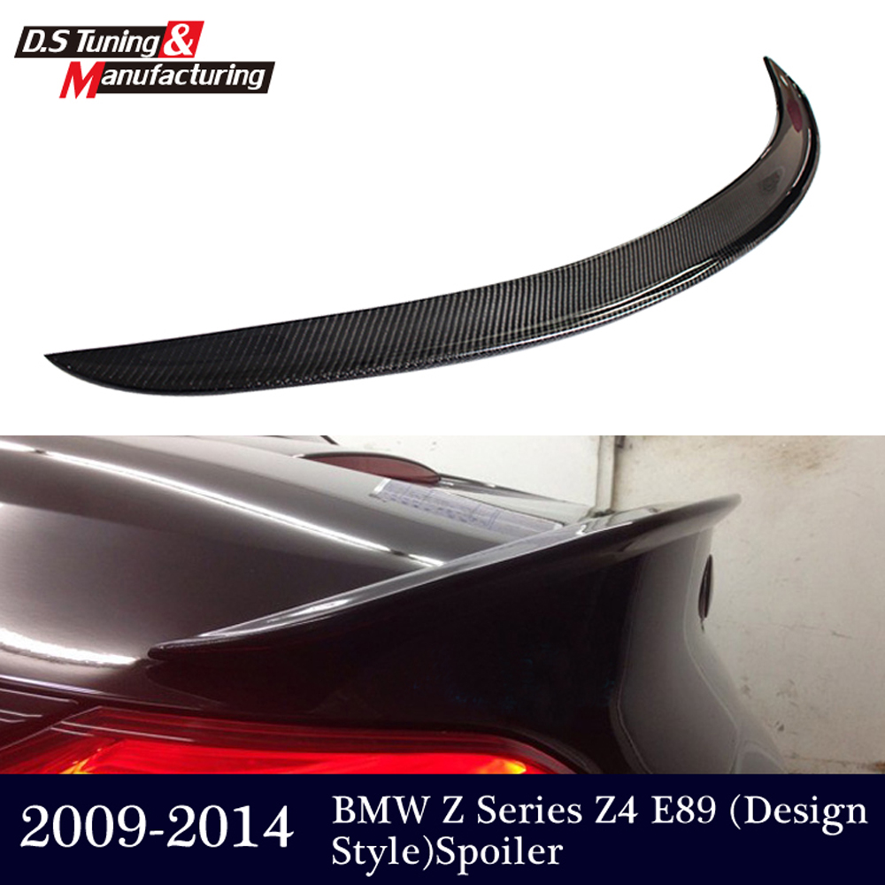 Carbon fiber z4 e89 coupe convertible design spoiler rear trunk wings spoiler for bmw z4 2009-2014 18i 20i 23i 28i 30i 35i mercedes carbon fiber trunk amg style spoiler fit for benz e class w207 2 door 2010 2015 coupe convertible vehicles