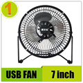 High quality Metal Usb mini electric fan portable for laptop pc computer with key switch silent 7 inch fan