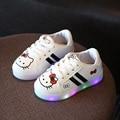 Sapatos meninas Sapatos de Desporto Sapatilhas 2017 Marca Primavera Princesa Das Meninas Sapatos Sapatilhas Calçados Infantis Dos Desenhos Animados Led Com Luz Tamanho 21-30