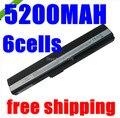 5200 mah 6 células bateria do portátil para asus a52 a52f a52j K52JC K52JE K42 K42F K52F K52 K52J A31-K52 A32-K52 A41-K52 A42-K52