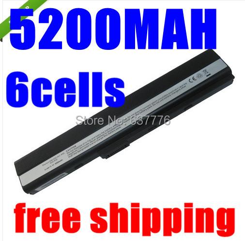 5200 mah 6 celdas de batería portátil para asus a52 a52f a52j K42 K52 K42F K52F K52JC K52JE K52J A31-K52 A32-K52 A41-K52 A42-K52