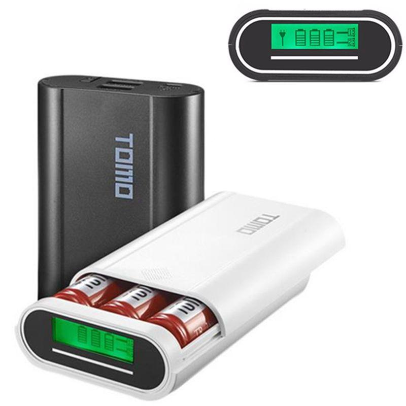 TOMO M3 3pcs 18650 Batteries Charging Station Power Bank Case Diy Box For Mobile Phone Part