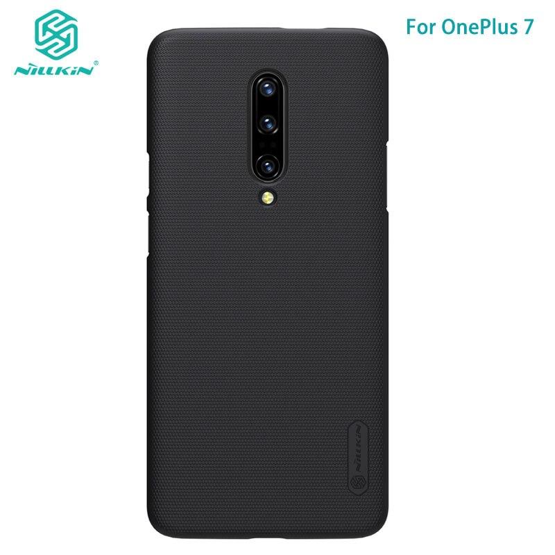 Oneplus 7 caso nillkin fosco escudo de plástico caso capa traseira para oneplus 6 t 7 t 5 t 7 pro um mais 5 3 t a3000
