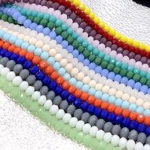 BEAUCHAMP 4*3 мм хрустальные бусины Rondelle граненые разноцветные ювелирные изделия фурнитура разделитель Лариат браслет ожерелье Brincos аксессуары