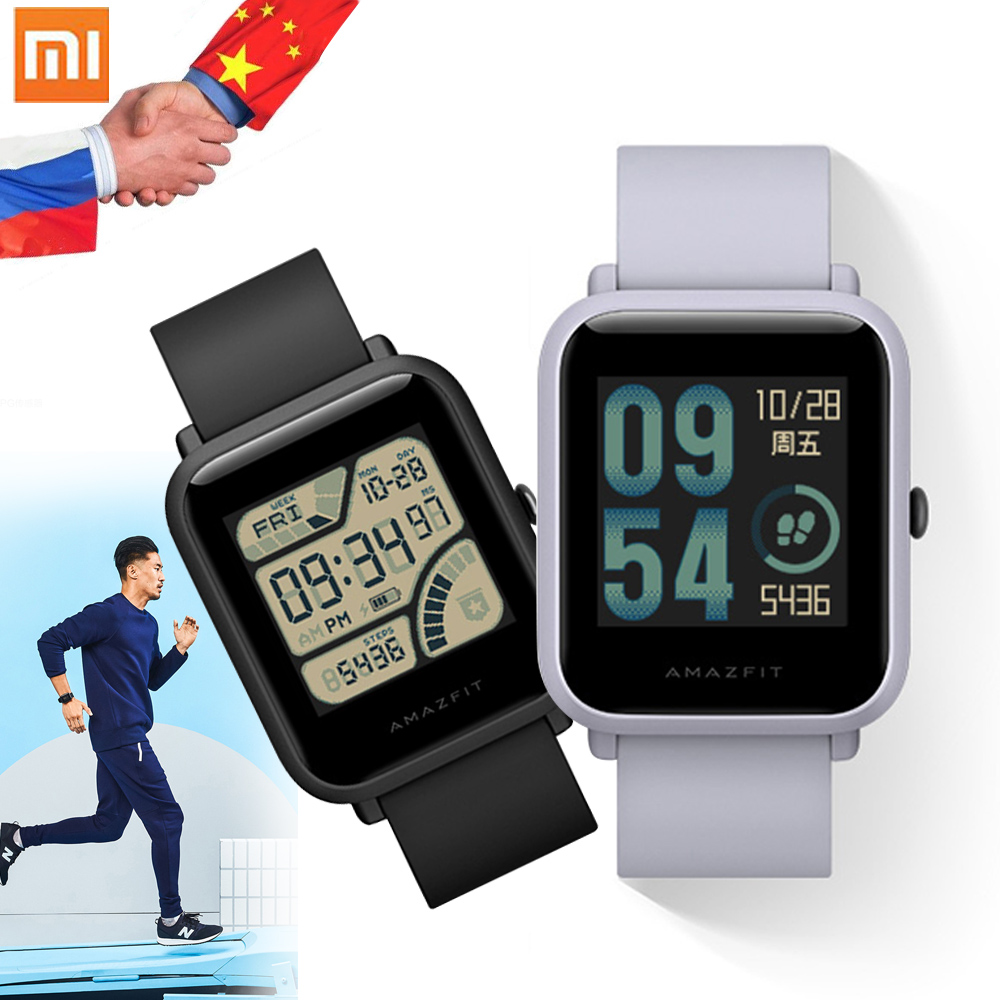 Original Xiaomi Huami Amazifit Bip Bit Face Smart Watch Sports Baro IP68 Waterproof with GPS Fitness Tracker for Android IOS english version original xiaomi huami amazfit youth smart watch bip bit face gps fitness tacker heart rate baro ip68 waterproof
