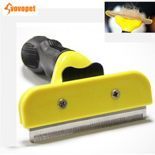 VOVOPET Wholesale Pet Grooming Comb Dog Handle Stainless Teddy golden retriever Cat Remover hairs Brush Cats Tool