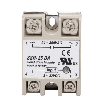 Industrial Single Phase Solid State Relay SSR - 25DA 25A Actually 3-32V DC TO 24-380V Dc Control Ac SSR-25DA