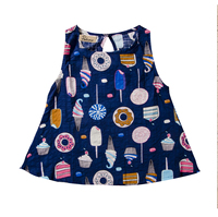 High Quality Kids Girls Clothes Summer Cotton T-shirt Sleeveless Tops O-Neck Blouse 2-7Y