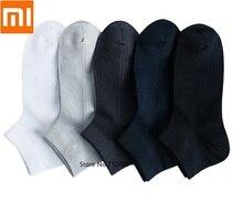 Мужские воздухопроницаемые носки Xiaomi, мягкие и удобные антибактериальные короткие носки для весны и лета, 365
