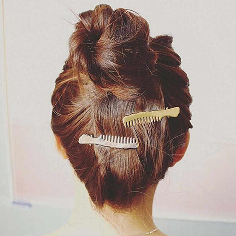2016 Новинка волос ювелирные изделия цвета: золотистый, Серебристый покрытием гребень для волос в форме Заколки для волос для Для женщин ювелирные украшения брошь в виде бабочки pinzas de Pelo T4