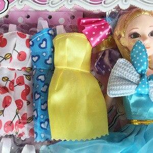 Image 3 - 154 個絶妙なギフトボックスの誕生日プレゼントdiy人形教育玩具プリンセスの人形セット服ままごとのおもちゃコスプレ