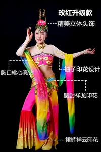 Image 2 - Dunhuang Flying Dance Costumes Moon Dance National Ballet Costumes Classical Dance Fanxian Miao Lead Fairy Clothes