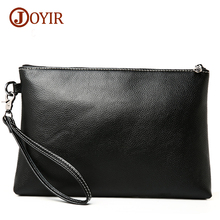 Joyir 2017 bags men business casual genuine leather bag black soft leather gentlemen fashion day clutch envelope men bag 3356