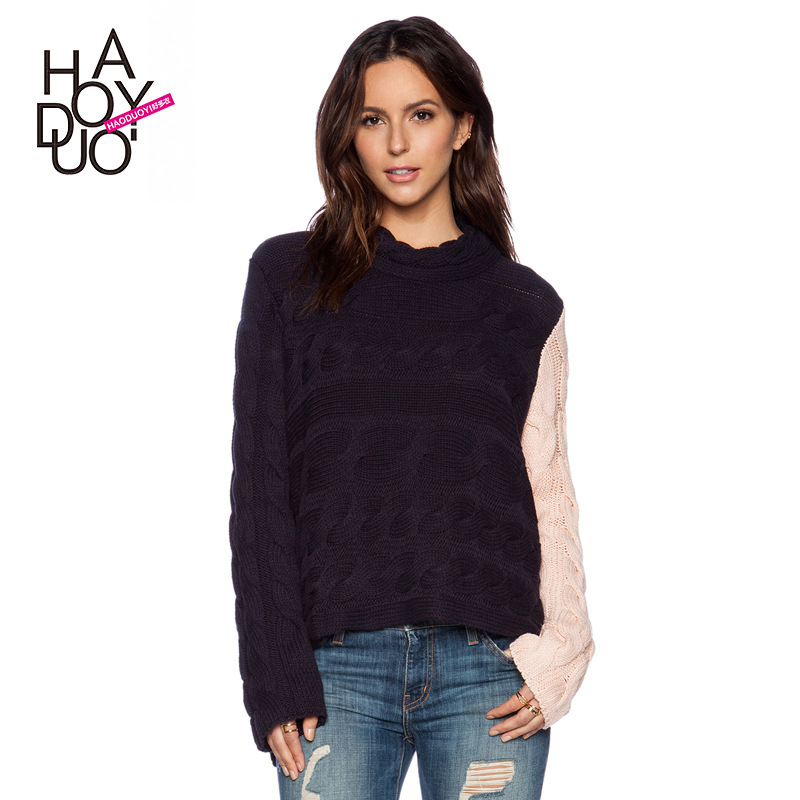 New Spring 2015 Fashion Casual Sweater Different Color ...