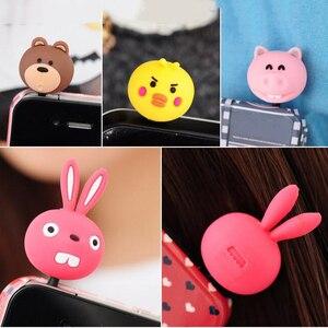 Headphone 3.5mm Port Dust Plug Cute Animal Cat Pig Rabbit Bear Chicken Headset Music Stopper Mobile Phone 3.5 Jack Decor