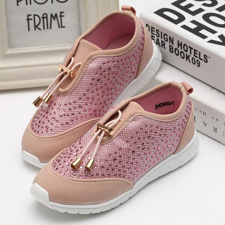 2018 New Spring Autumn Children Shoes Girls Sport Shoes Fashion Comfortable Outdoor Breathable Kids Sneakers Girls Shoes peak sport men outdoor bas basketball shoes medium cut breathable comfortable revolve tech sneakers athletic training boots