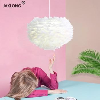 Скандинавские креативные светодиодные подвесные светильники с перьями для гостиной, спальни, Роскошный декор, осветительный прибор, совре...